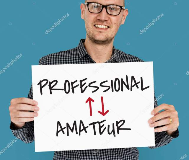 Mature Man Holding Banner Professional Amateur Concep Photo By Rawpixel