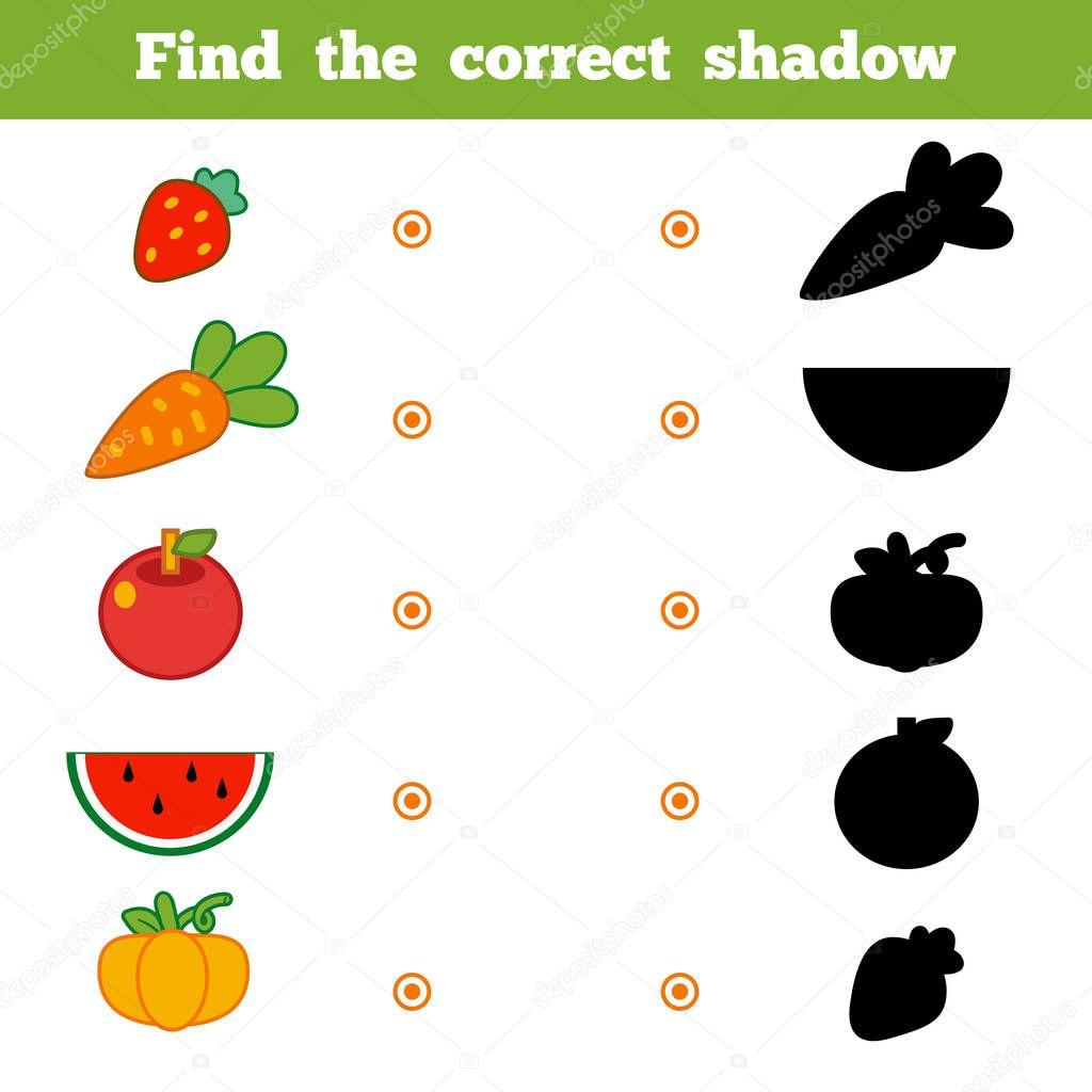 Encontrar La Sombra Correcta Juego Para Ninos Conjunto