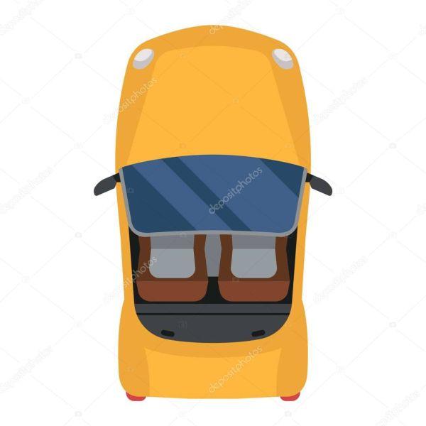 Вектор вида автомобиля изолирован . — Векторное ...
