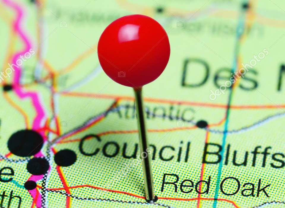 HD Decor Images » Red Oak pinned on a map of Iowa  USA     Stock Photo      dk photos     Red Oak pinned on a map of Iowa  USA     Stock Photo