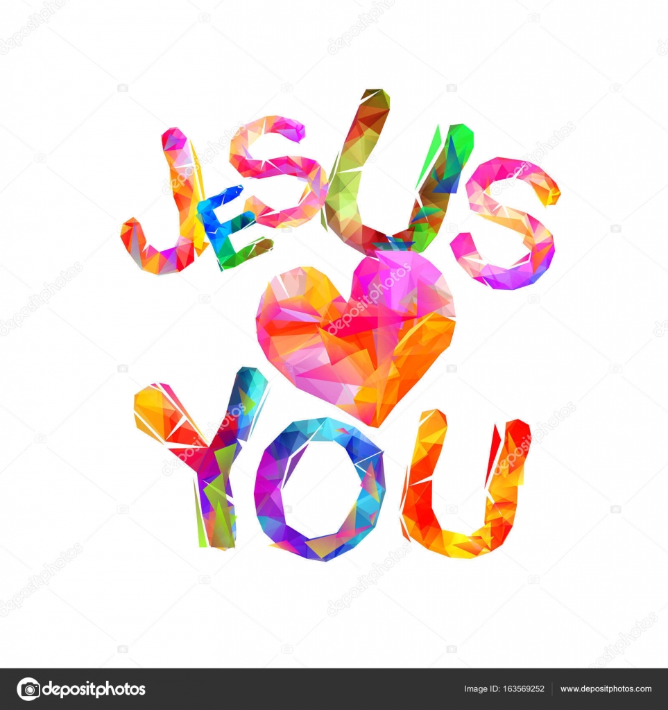 Download Jesus loves you. Triangular letters — Stock Vector ...