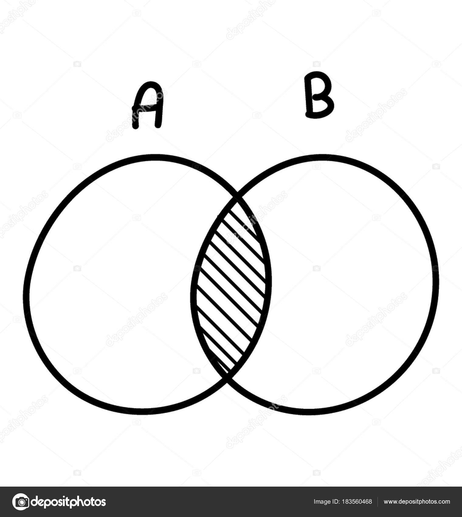 Venn Diagram Doodle Icon Discrete Math