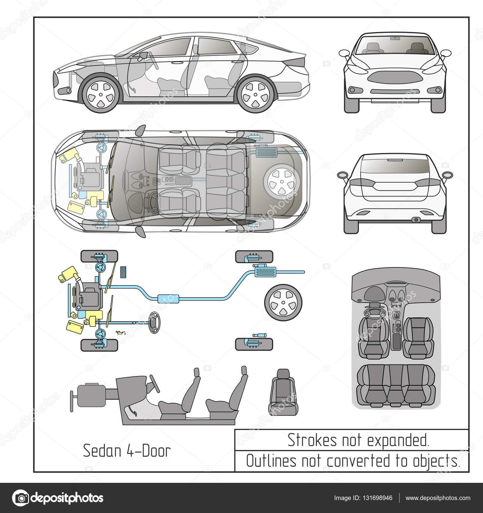 Carro Seda Partes Interiores Do Motor Bancos Painel