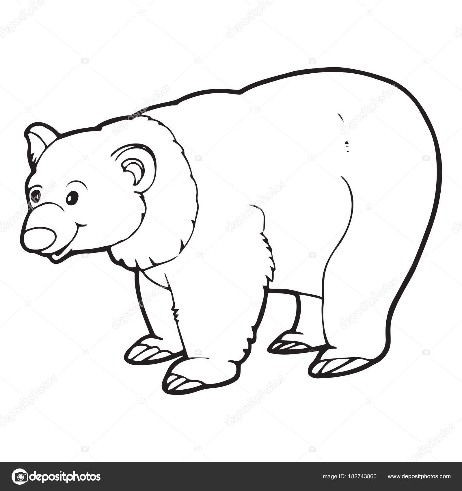 Cute Cartoon Polar Bear White Background Childrens Prints
