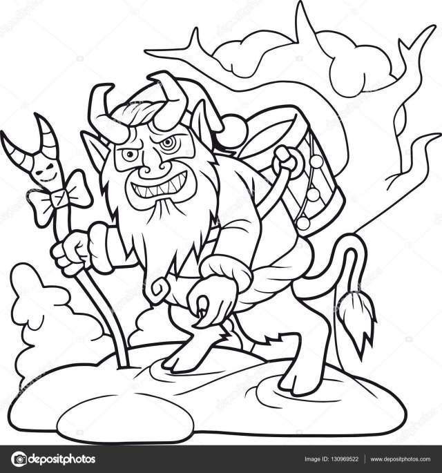 Krampus looking for naughty children Stock Vector Image by ©Fargon