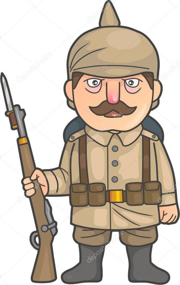 Cartoon german soldier   German soldier during World War ...