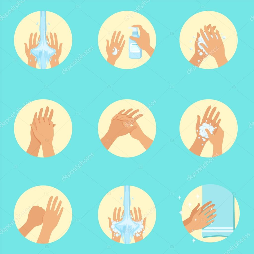 Washing Hands Picture Sequence