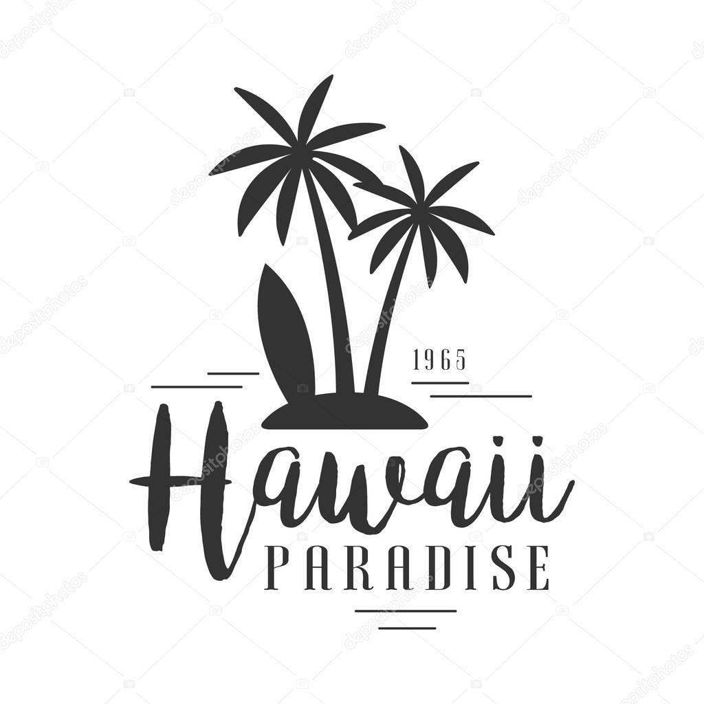 Paraiso Do Havai Desde Vetor De Modelo Preto E