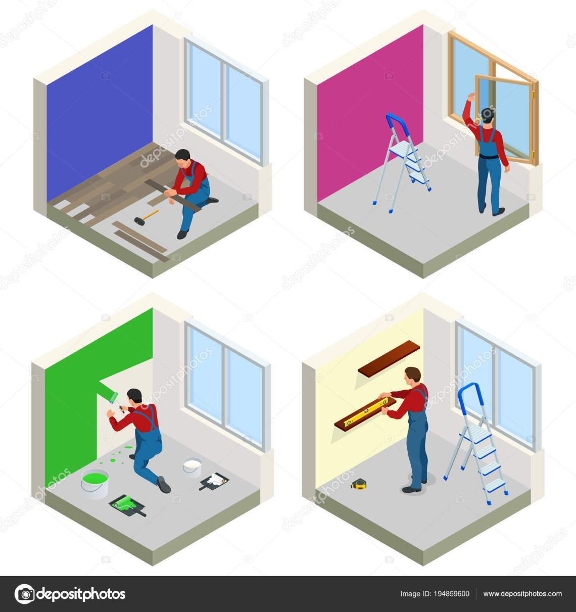 Home Repair Isometric Concept Set With Workers Tools Equipment Isolated On White Building Construction And Home Repair Tools Vector Flat Isometric Illustration Stock Vector Royalty Free Vector Image By C Golden Sikorka 194859600
