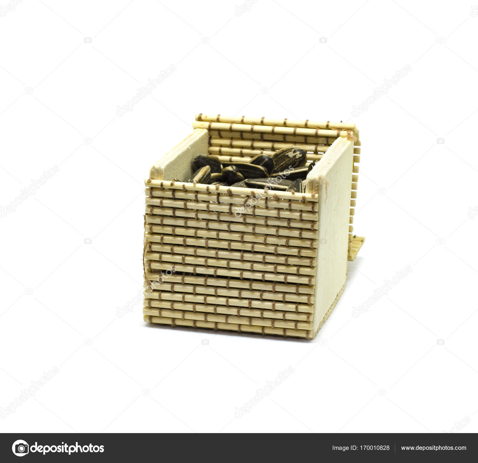 Small Hand Made Bamboo Basket For Door Gift Stock Photo C Xicro 170010828