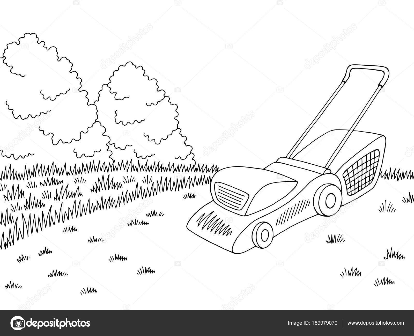 Traktorek Kosiarka Ogrodowy Graficzny Czarny Bia Y