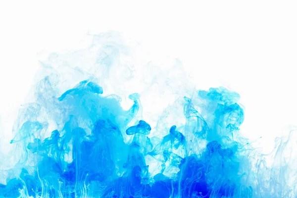 Абстрактный фон цвет чернил падение в воду. Синий облако ...