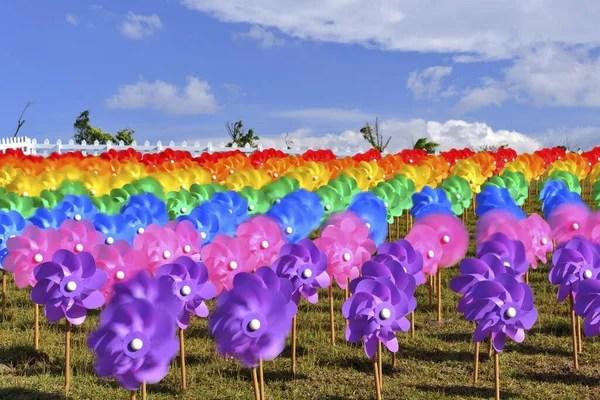 Прапори махав на японський фестиваль — Стокове фото ...