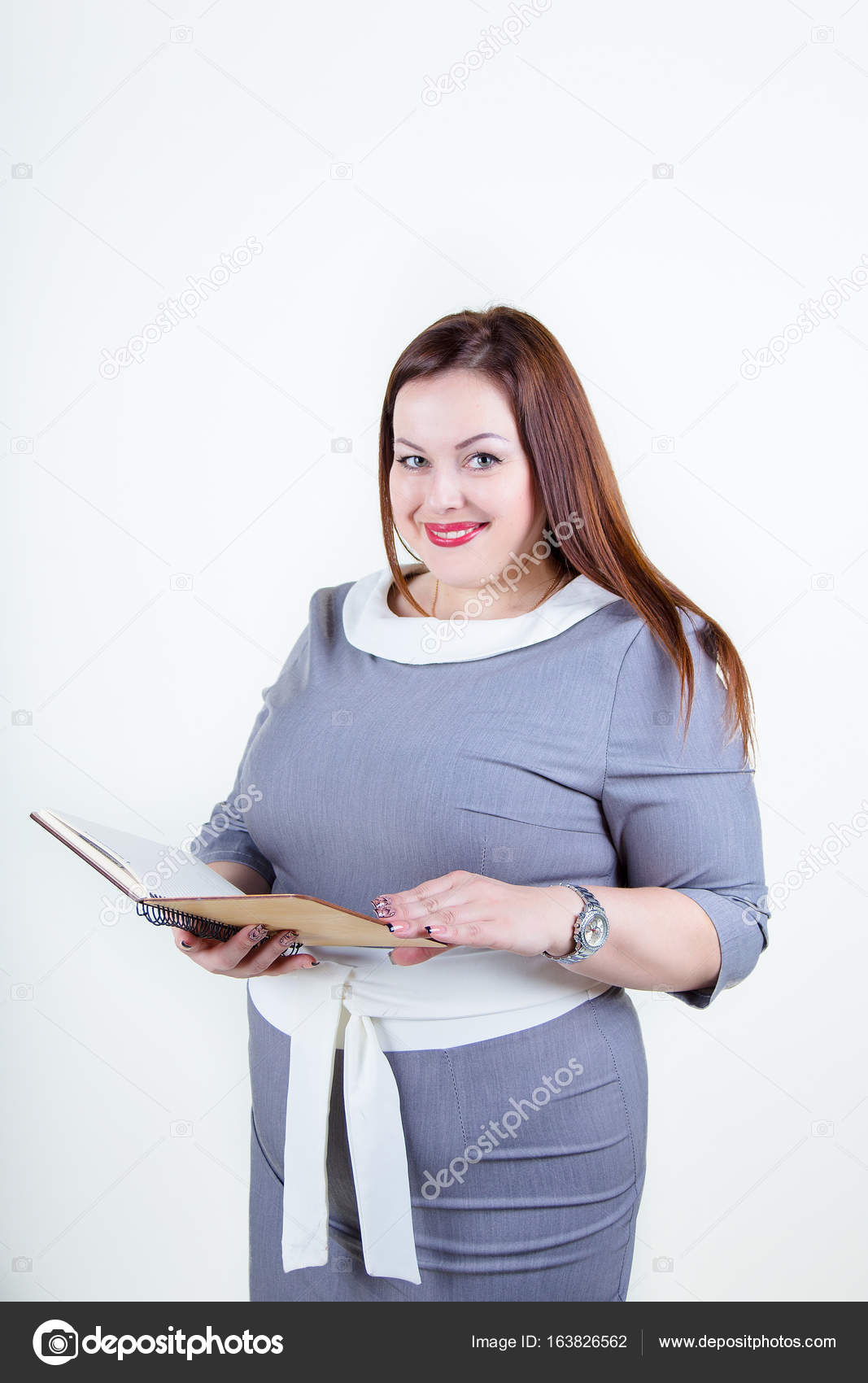 Chubby Plus Size Woman With A Beautiful Smile Stock Image