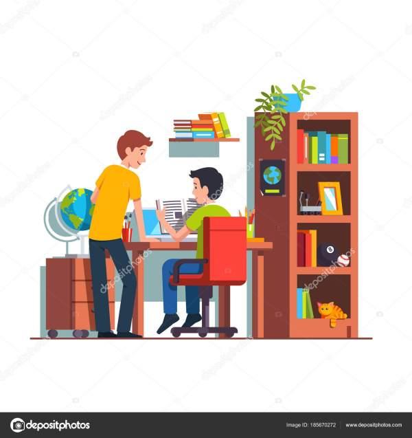 Два студента, делать домашнее задание на дому Кид номер ...