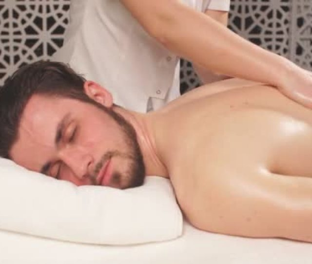Treatment Massage For Full Body Man Lead Healthy Lifestyle Stock Video