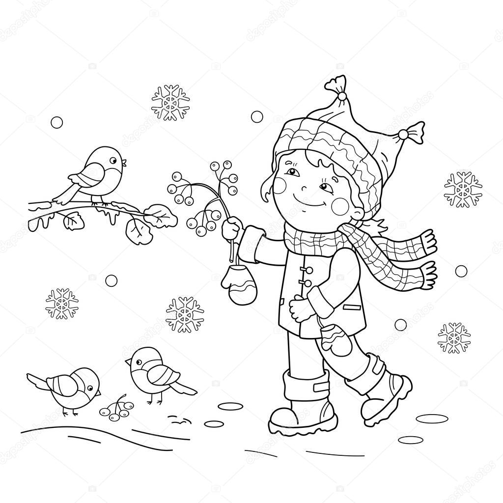 Colorear Contorno De La Pagina De Dibujos Animados Aves