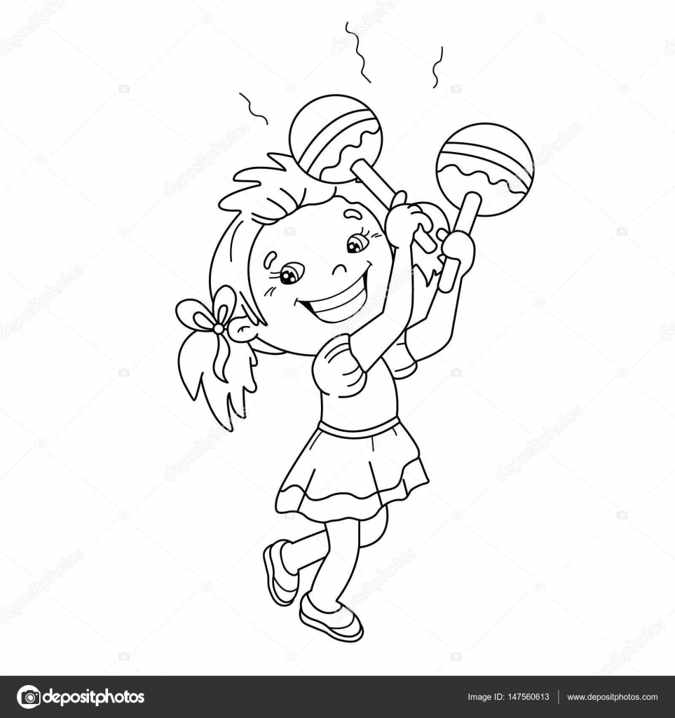 Maraca Coloring Pages
