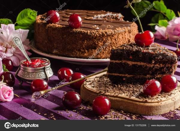 Шоколадный кекс с вишней. Сладости и десерты. Шоколадный ...
