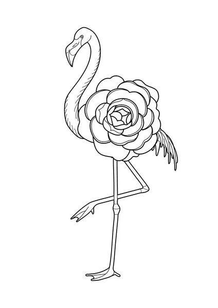Vector Of A Cartoon Tourist Flamingo Taking Pictures