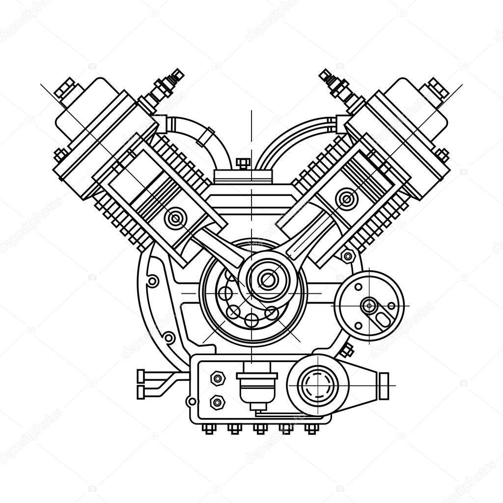 Imagenes Dibujo De Motor