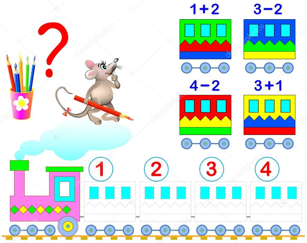 Mathematical Worksheet For Young Children On Addition And Subtraction Need To Solve Examples