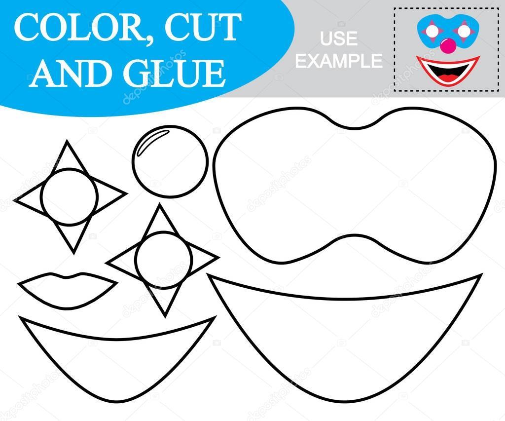 Creer Image Masque Clown Feuille Calcul Couleur Couper