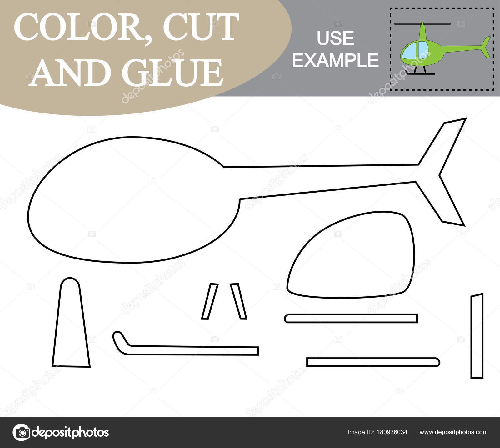 Color Corte Y Pegamento Para Crear La Imagen Del