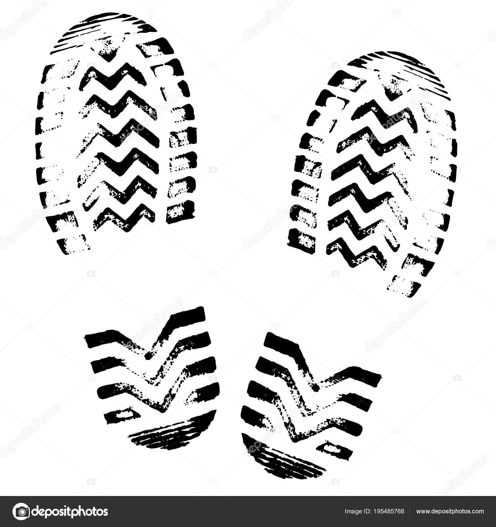 Footprint Silhouette Vector Shoe Soles Print Foot Print