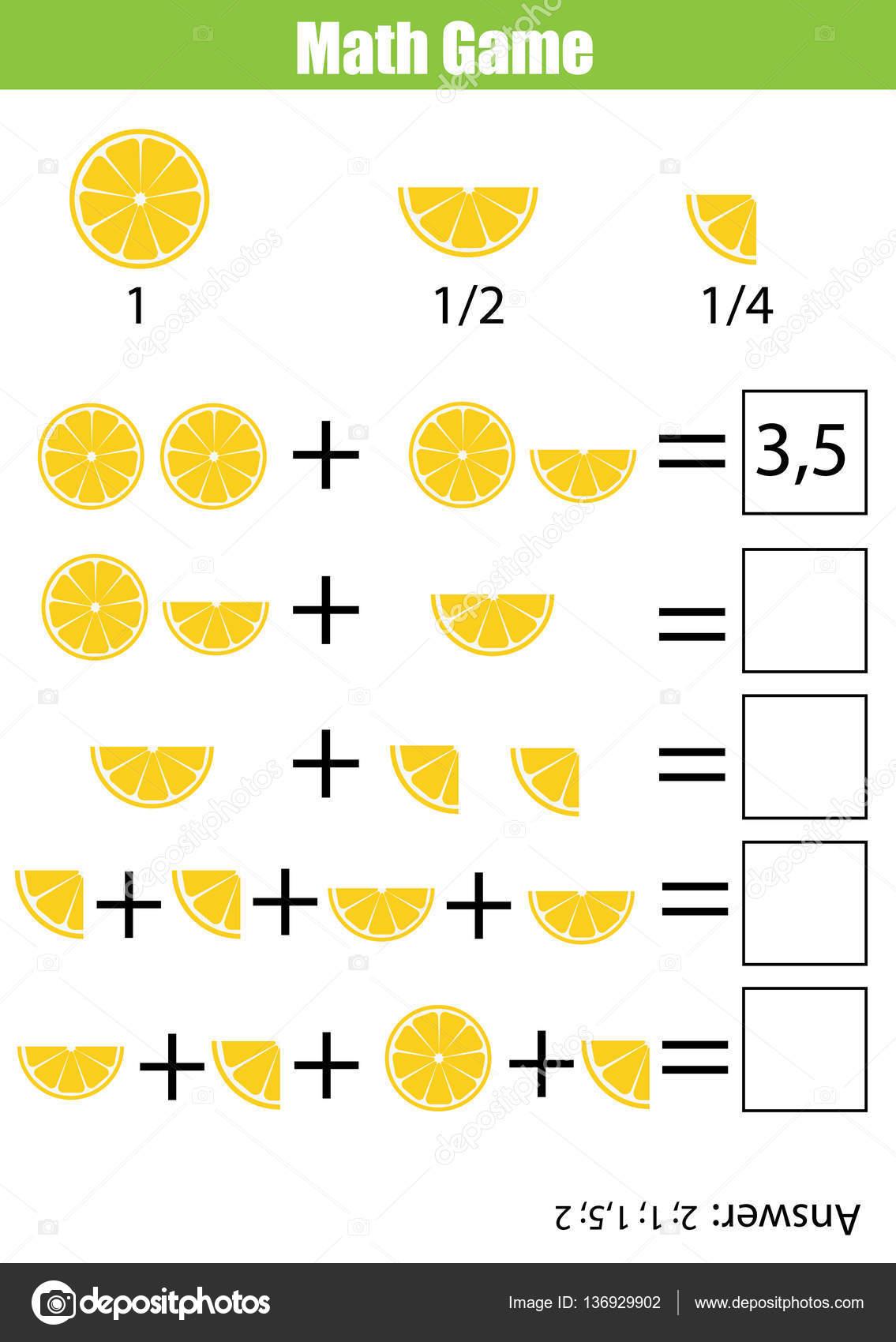 Matematicas Educativas Contando Juego Para Ninos Hoja De