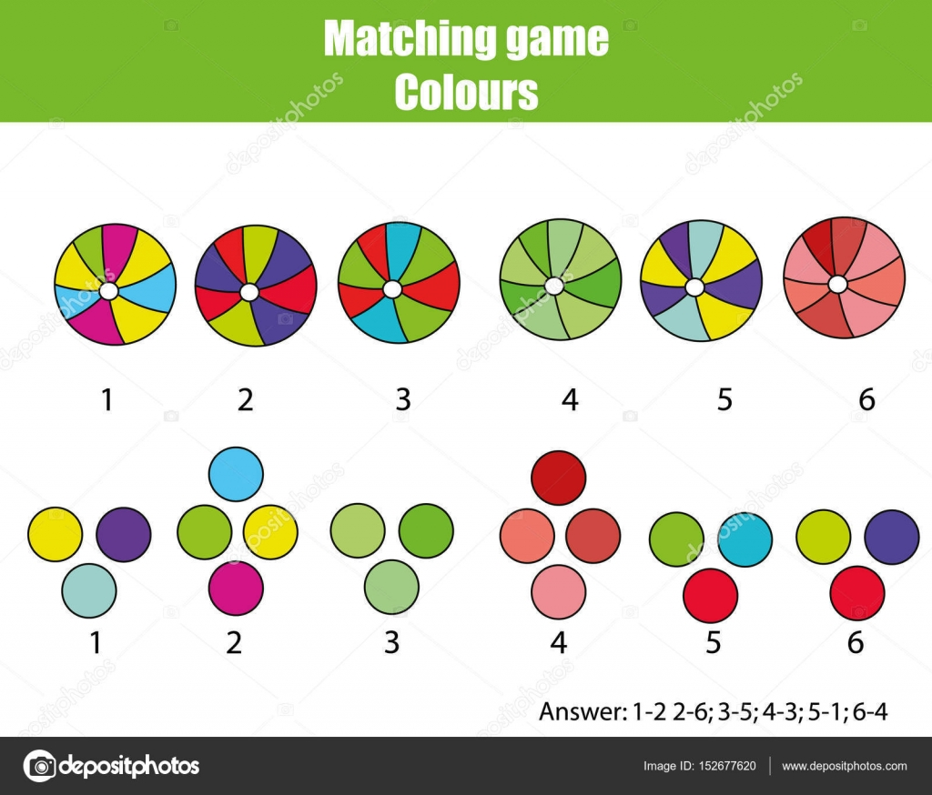 Educatief Kinderen Spel Match Per Kleur
