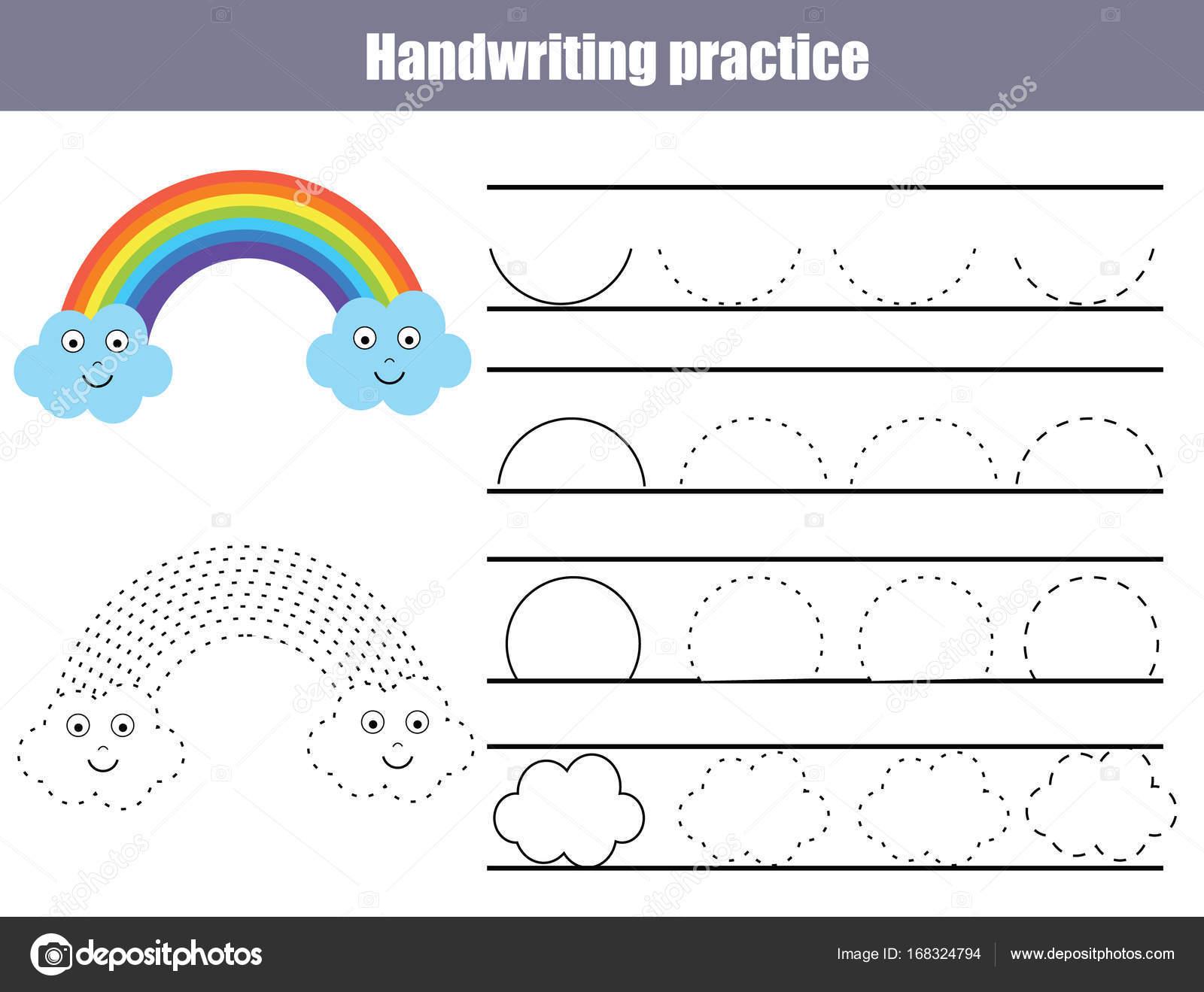 Handwriting Practice Sheet Educational Children Game