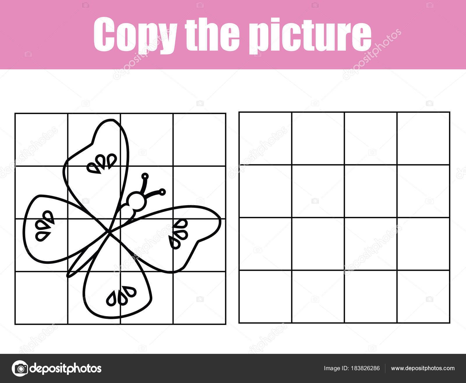 Grid Copy Worksheet Educational Children Game Printable