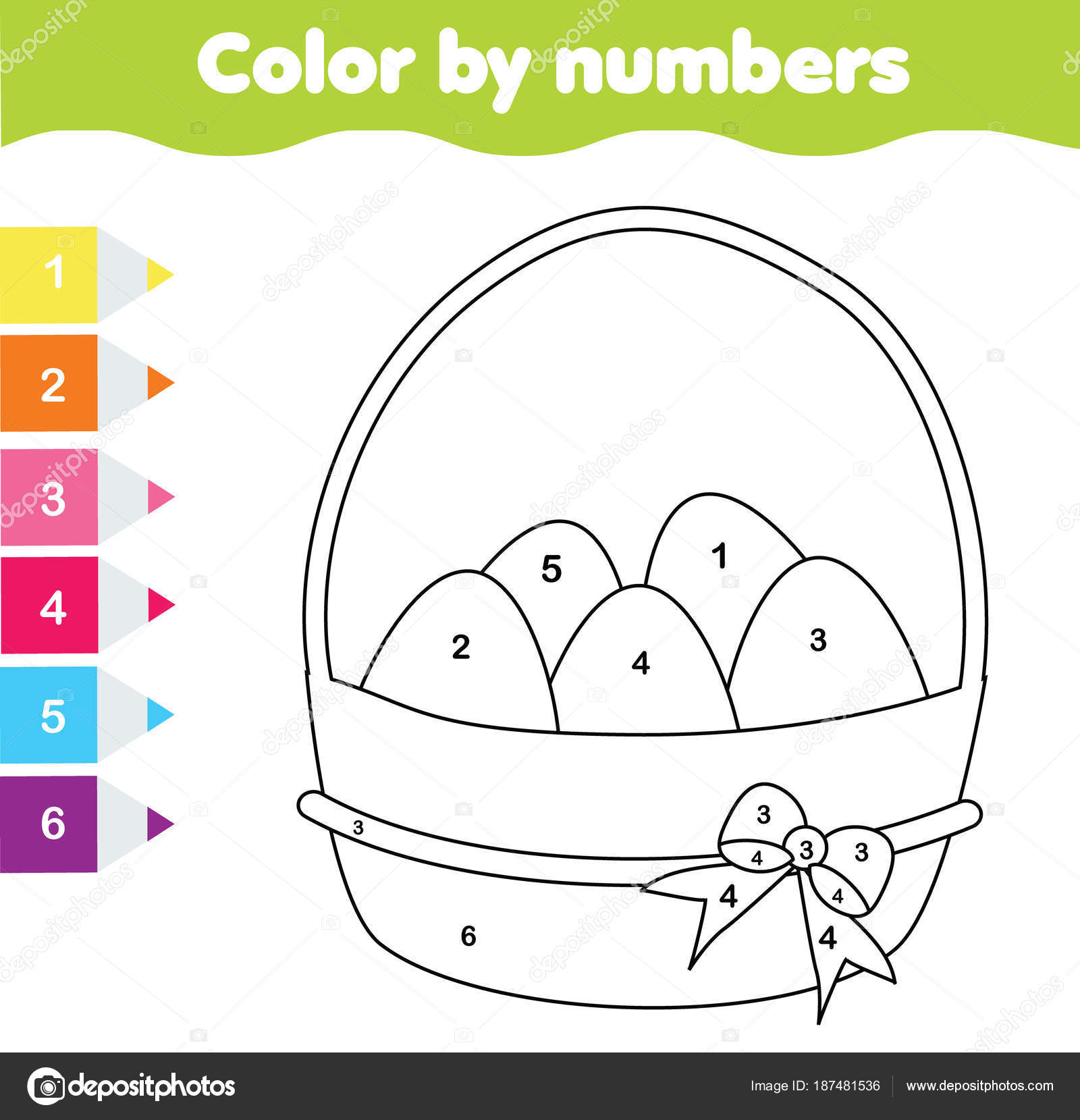 Best Color By Number Easter Printable