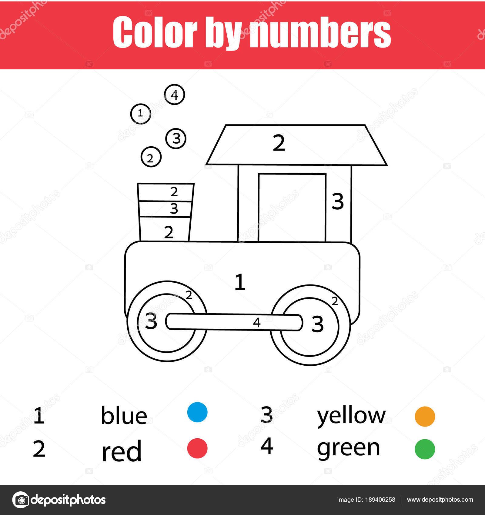 Treinwagon Kleurplaat