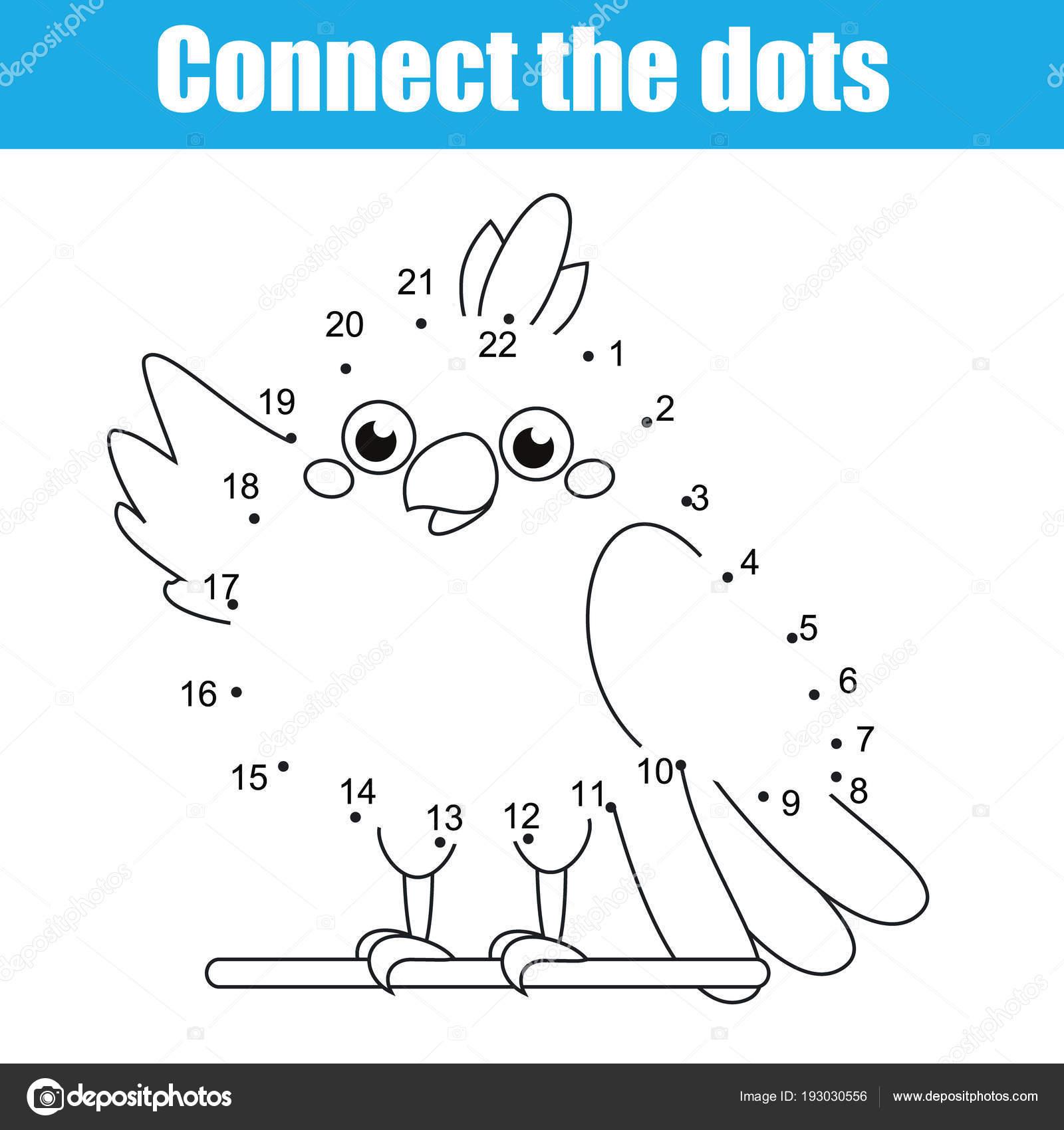 Verbinden Sie Punkte Kinder Bildungs Zeichnung Spiel