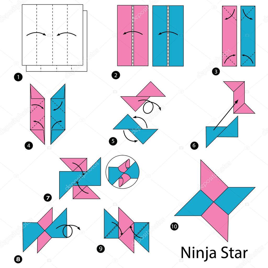 Instrucoes Passo Passo Como Fazer Uma Estrela Ninja