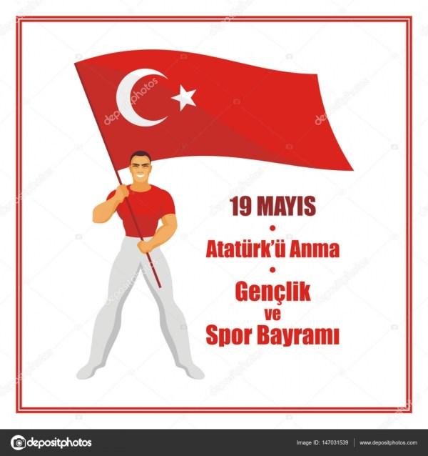 Турция день молодежи — Векторное изображение © belova8516 ...