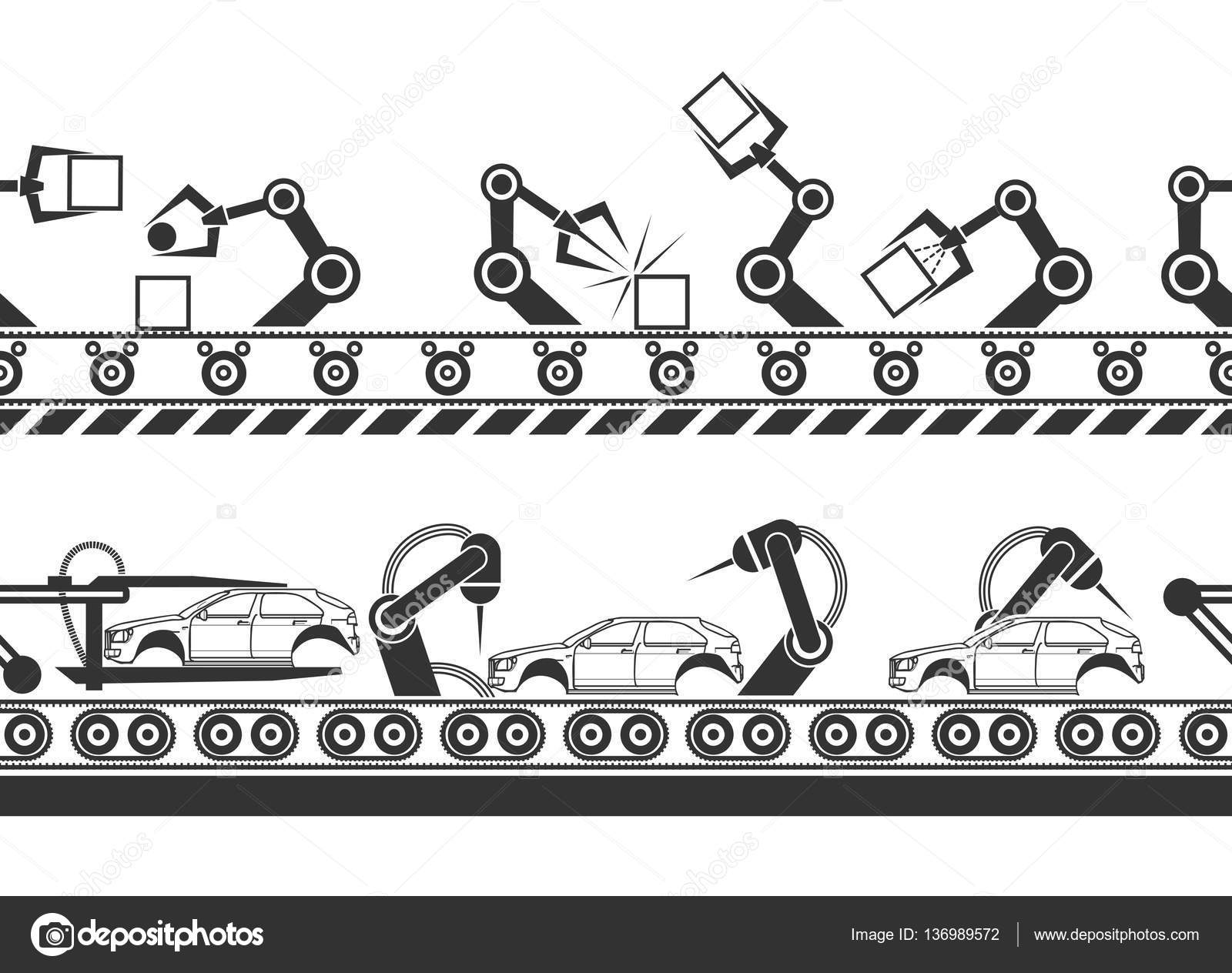 Fabricacao De Linha Com Maos De Robo