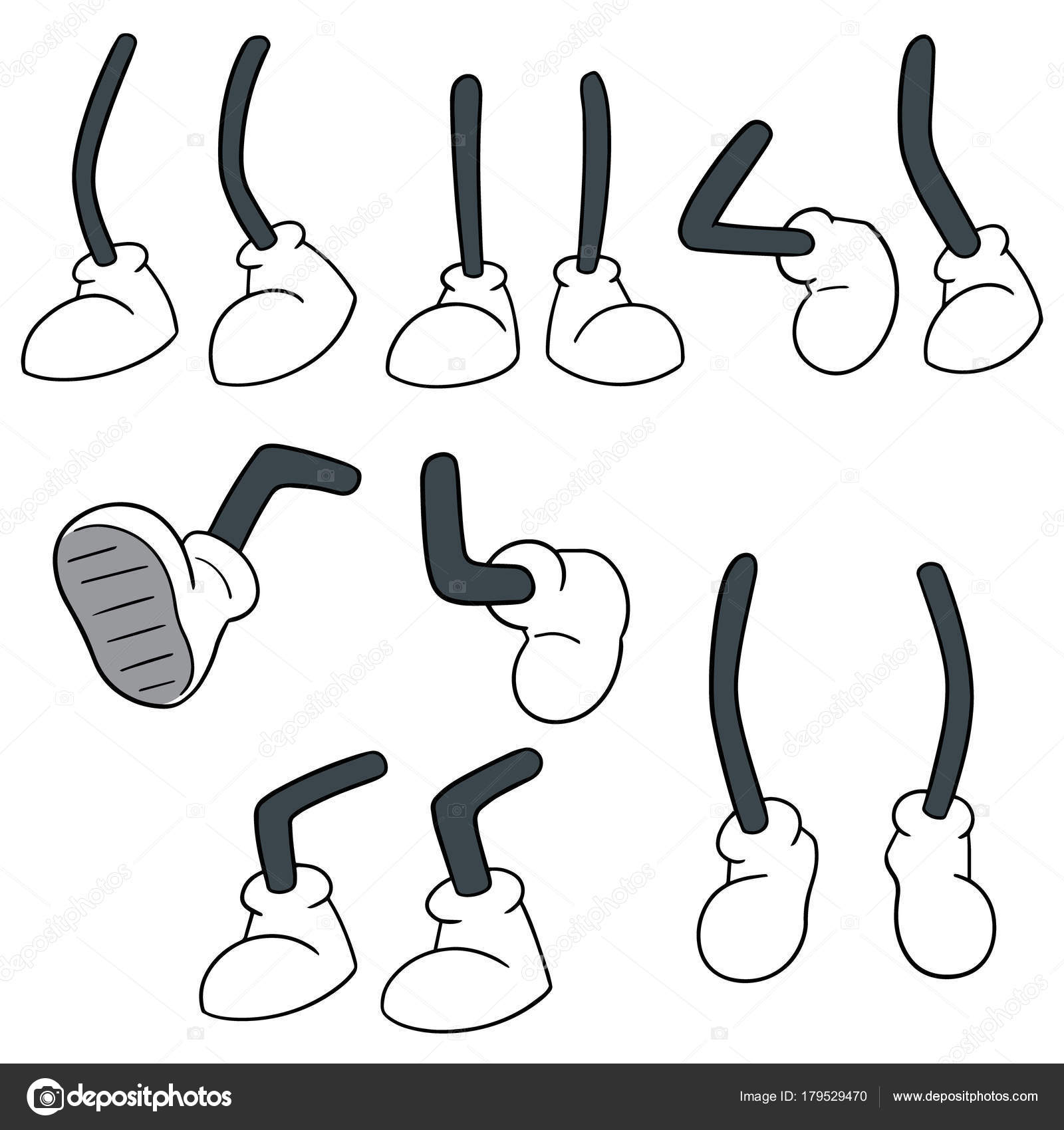 Vector Set Cartoon Leg