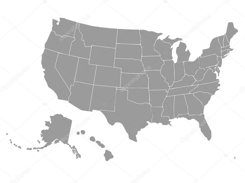 Advertisement usa map states outline 4K