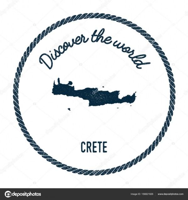 Карта Крита в винтажном открыть для себя мир символики ...