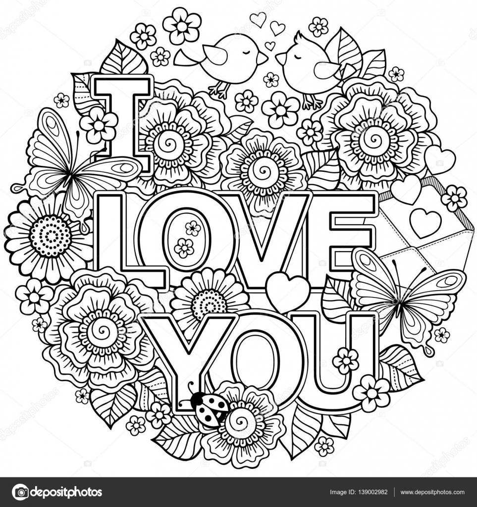 Kleurplaat Liefde