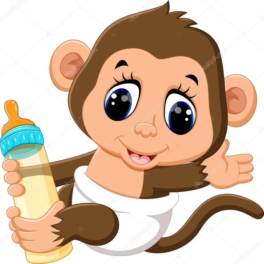 See more ideas about kawaii, kawaii illustration, kawaii animals. Illustration of cute Cartoon monkey — Stock Vector ...