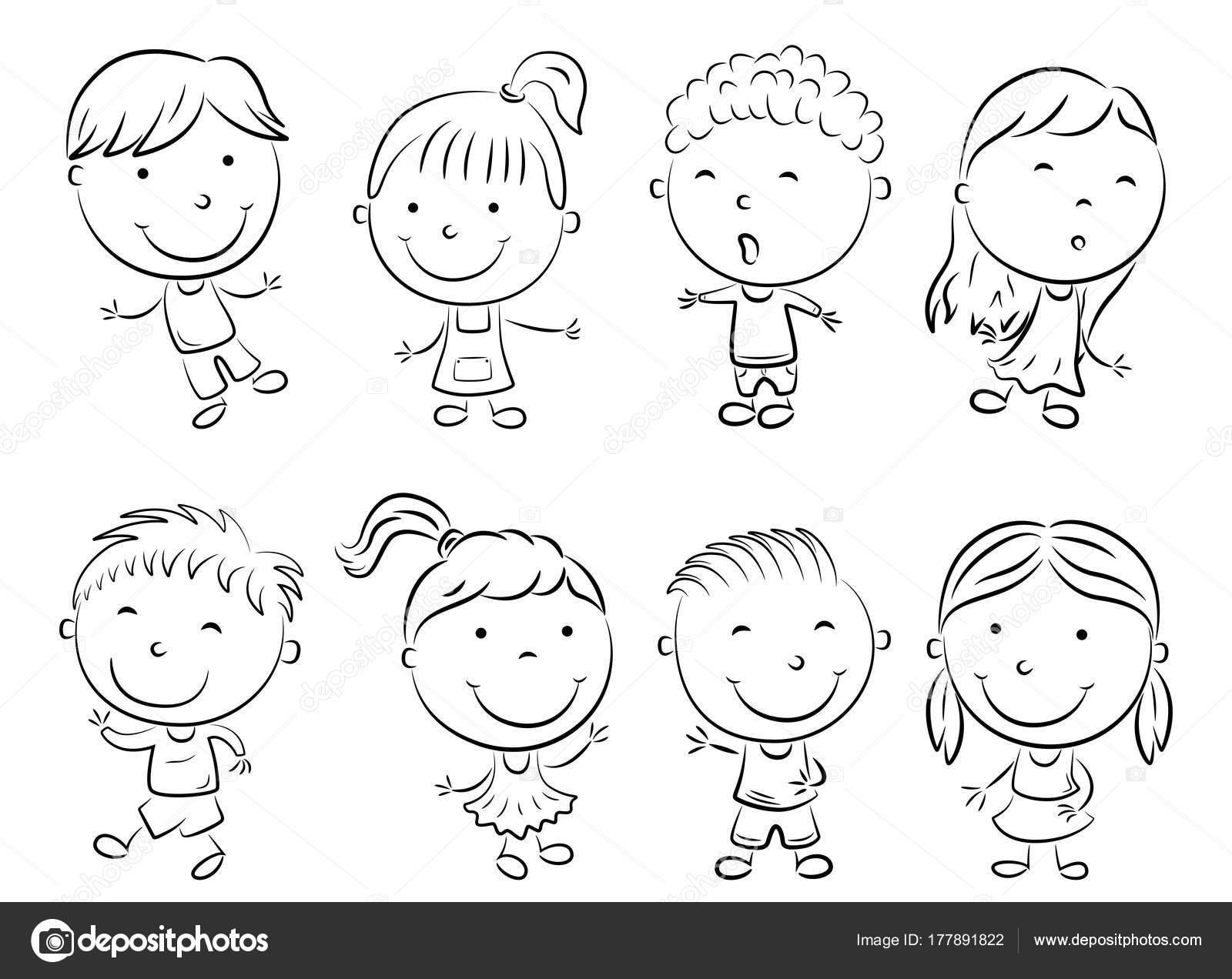 Happy Kid Cartoon Doodle