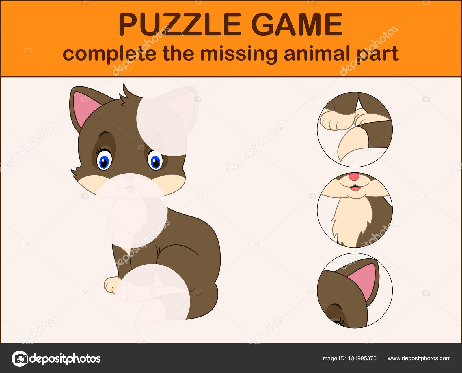 Complete Puzzle Find Missing Parts Picture