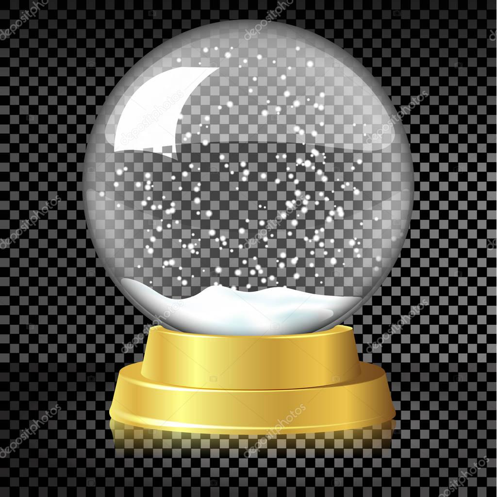 Vector Empty Christmas Snow Globe Template On Transparent Background Premium Vector In Adobe Illustrator Ai Ai Format Encapsulated Postscript Eps Eps Format