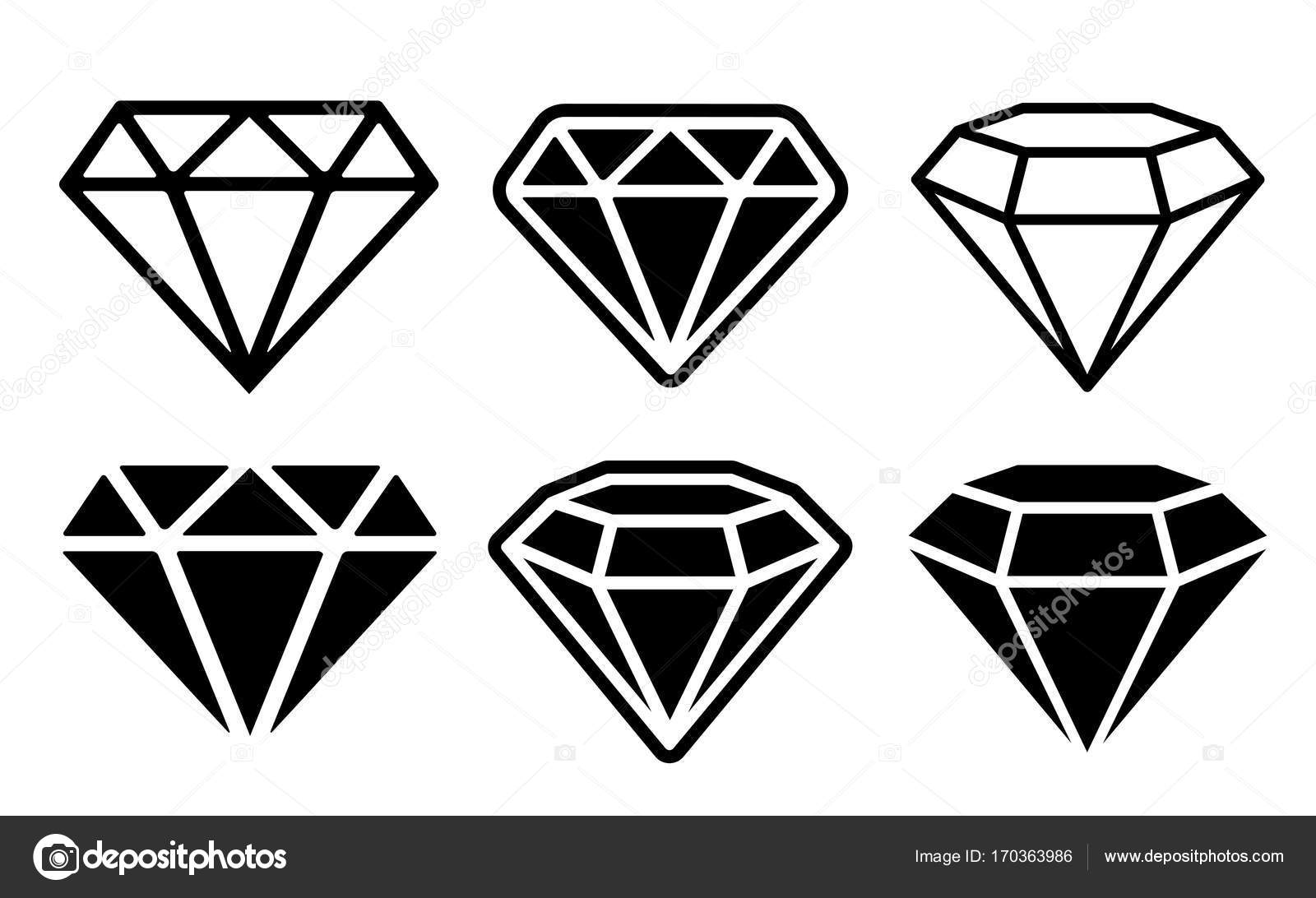 Conjunto De Icones De Diamante