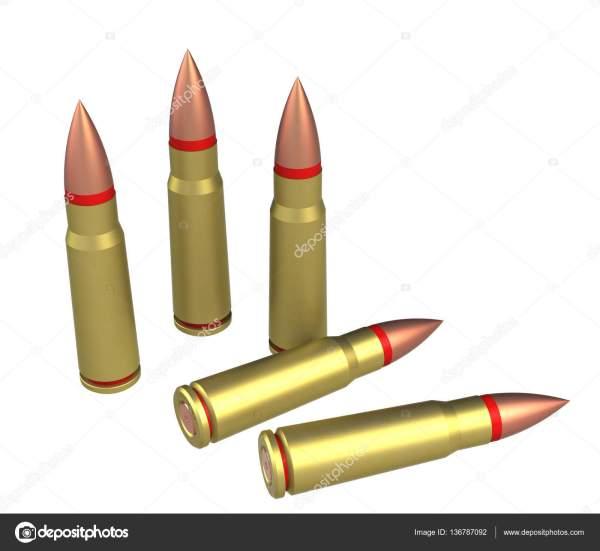 Боеприпасы патрон АК-47 — Стоковое фото © jack_less ...