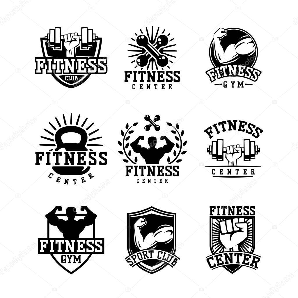 Sportschool Fitness Logo Vector Badge